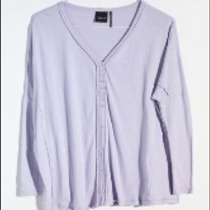 out from under drop shoulder cardigan blue